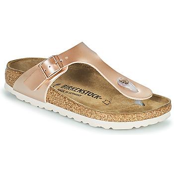Topánky Dievčatá Žabky Birkenstock GIZEH Ružová / Zlatá