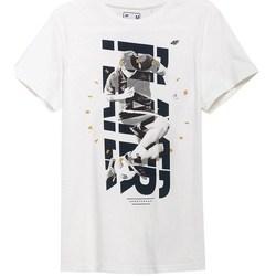 Oblečenie Muži Tričká s krátkym rukávom 4F TSM011 Biela