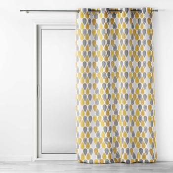 Domov Závesy, rolety Douceur d intérieur PALPITO Žltá / Biela