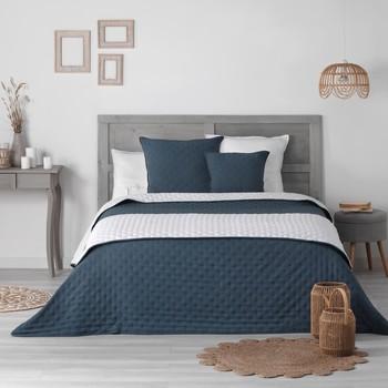 Domov Prehozy na posteľ Douceur d intérieur MELLOW CHIC Modrá / Biela
