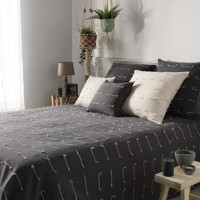 Domov Prehozy na posteľ Douceur d intérieur FILEO Antracitová