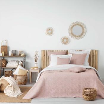 Domov Prehozy na posteľ Douceur d intérieur FLORETTE Ružová