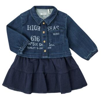 Oblečenie Dievčatá Krátke šaty Ikks CHATAIN Námornícka modrá