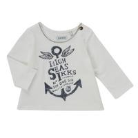 Oblečenie Dievčatá Tričká s dlhým rukávom Ikks CHOCOLAT Biela