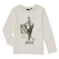 Oblečenie Chlapci Tričká s dlhým rukávom Ikks CERISE Biela