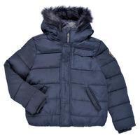 Oblečenie Chlapci Vyteplené bundy Ikks MAGENTA Námornícka modrá