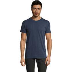 Oblečenie Muži Tričká s krátkym rukávom Sols Camiseta IMPERIAL FIT color Denim Azul