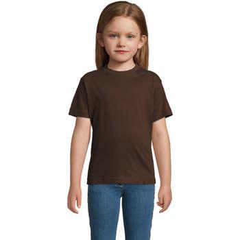 Oblečenie Deti Tričká s krátkym rukávom Sols Camista infantil color chocolate Marrón