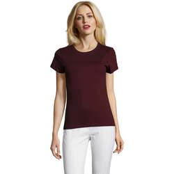 Oblečenie Ženy Tričká s krátkym rukávom Sols Camiseta IMPERIAL FIT color Borgoña Burdeo