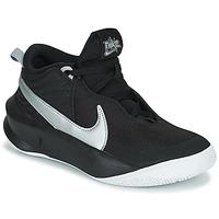 Topánky Deti Členkové tenisky Nike TEAM HUSTLE D 10 (GS) Čierna / Strieborná