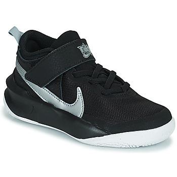 Topánky Deti Členkové tenisky Nike TEAM HUSTLE D 10 (PS) Čierna / Strieborná