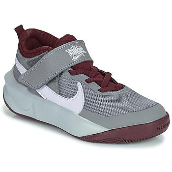 Topánky Deti Členkové tenisky Nike TEAM HUSTLE D 10 (PS) Šedá / Bordová