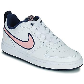 Topánky Deti Nízke tenisky Nike COURT BOROUGH LOW 2 SE1 (GS) Biela / Ružová