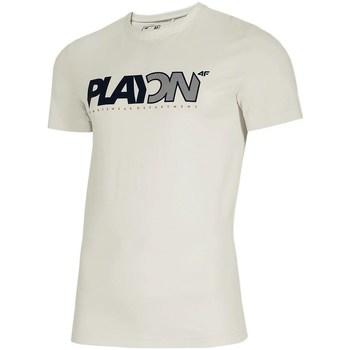 Oblečenie Muži Tričká s krátkym rukávom 4F TSM013 Biela
