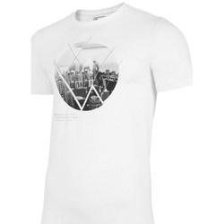 Oblečenie Muži Tričká s krátkym rukávom 4F TSM023 Biela