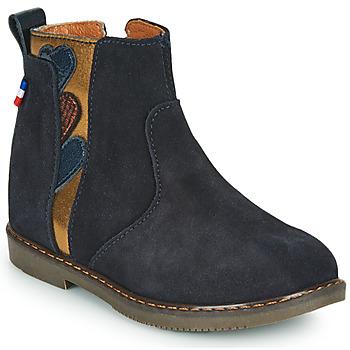 Topánky Dievčatá Polokozačky GBB JEANNETTE Modrá