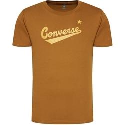Oblečenie Muži Tričká s krátkym rukávom Converse Center Front Logo Hnedá