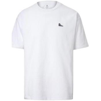 Oblečenie Muži Tričká s krátkym rukávom Converse Chuck Taylor Shoe Patch Biely