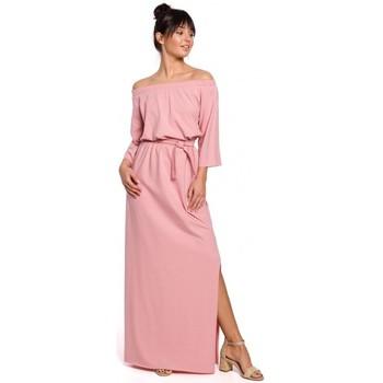 Oblečenie Ženy Dlhé šaty Be B146 Maxi šaty bez ramien - ružové