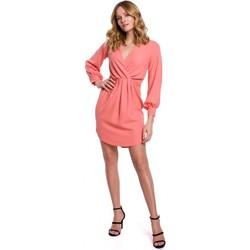 Oblečenie Ženy Krátke šaty Makover K044 Prestrihnuté šaty - oranžové