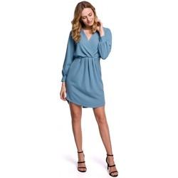 Oblečenie Ženy Krátke šaty Makover K044 Prestrihávané šaty - nebesky modré