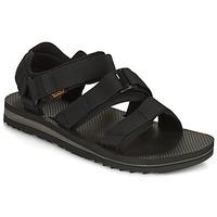 Topánky Muži Sandále Teva M Cross Strap Trail BLACK Čierna