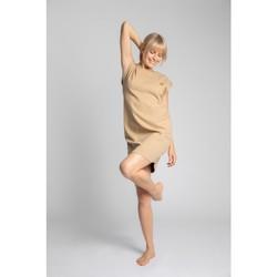 Oblečenie Ženy Krátke šaty Lalupa LA033 Rebrované bavlnené šaty na spanie - cappuccino
