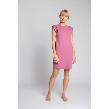 Oblečenie Ženy Krátke šaty Lalupa LA033 Rebrované bavlnené šaty na spanie - vres