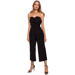 Oblečenie Ženy Módne overaly Moe M571 Kombinéza bez ramienok - čierna