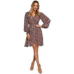 Oblečenie Ženy Krátke šaty Moe M576 Zavinovacie šaty s biskupskými rukávmi - model 1