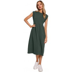 Oblečenie Ženy Dlhé šaty Moe M581 Šaty bez rukávov s vysokým pásom - vojensky zelené