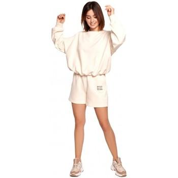 Oblečenie Ženy Šortky a bermudy Be B186 Šortky s výšivkou - vanilka