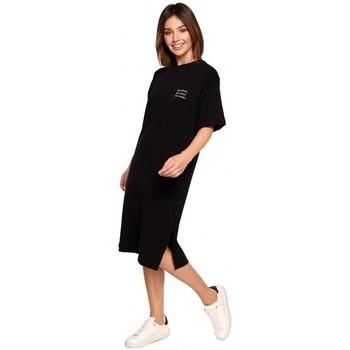 Oblečenie Ženy Krátke šaty Be B194 Tričkové šaty s uvoľneným strihom - čierne