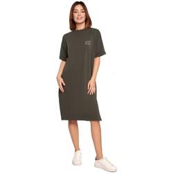 Oblečenie Ženy Krátke šaty Be B194 Tričkové šaty uvoľneného strihu - vojensky zelené