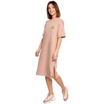 Oblečenie Ženy Krátke šaty Be B194 Tričkové šaty uvoľneného strihu - mocca