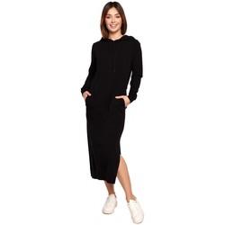 Oblečenie Ženy Dlhé šaty Be B197 Midi šaty s kapucňou - krémové