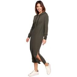 Oblečenie Ženy Dlhé šaty Be B197 Midi šaty s kapucňou - mocca