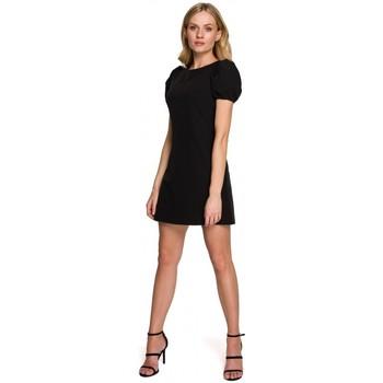 Oblečenie Ženy Krátke šaty Makover K095 Mini šaty s puzdrovými rukávmi - krepová ružová