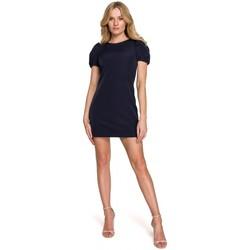 Oblečenie Ženy Krátke šaty Makover K096 Mini šaty so zavinovacím topom - model 1