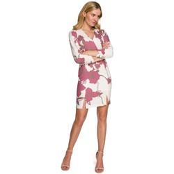 Oblečenie Ženy Krátke šaty Makover K096 Mini šaty so zavinovacím topom - model 3