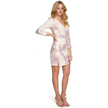Oblečenie Ženy Krátke šaty Makover K097 Skater šaty s opaskom - model 1