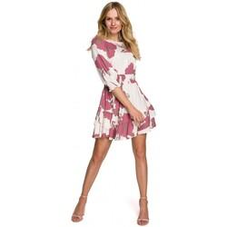 Oblečenie Ženy Krátke šaty Makover K097 Skater šaty s opaskom - model 2