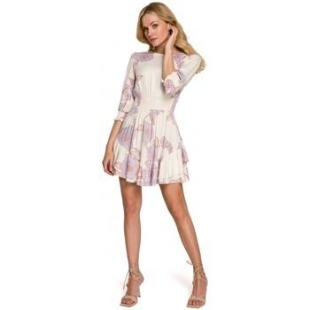 Oblečenie Ženy Krátke šaty Makover K097 Skater šaty s opaskom - model 3