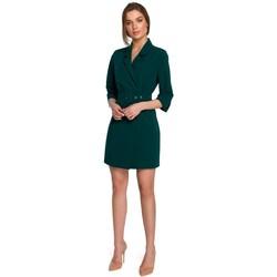 Oblečenie Ženy Krátke šaty Style S254 Blejzrové šaty s opaskom s prackou - kráľovská modrá