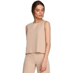 Oblečenie Ženy Blúzky Style S257 Blúzka bez rukávov - čierna
