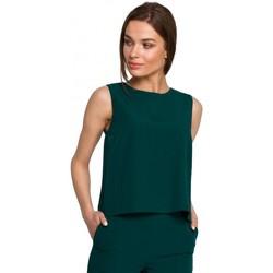 Oblečenie Ženy Blúzky Style S257 Blúzka bez rukávov - kráľovská modrá