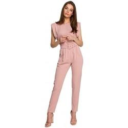 Oblečenie Ženy Módne overaly Style S260 Blúzka bez rukávov s vystuženými ramenami - čierna