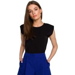 Oblečenie Ženy Blúzky Style S260 Blúzka bez rukávov s vypchávkami na ramenách - modrá