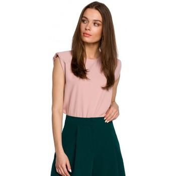 Oblečenie Ženy Blúzky Style S260 Blúzka bez rukávov s vystuženými ramenami - púdrová