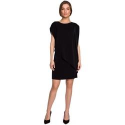 Oblečenie Ženy Krátke šaty Style S262 Vrstvené šaty - čierne